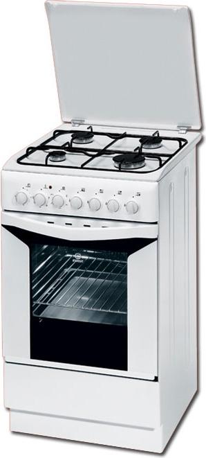 Indesit Cucina a Gas 4 Fuochi Forno Elettrico con Grill Larghezza x ...
