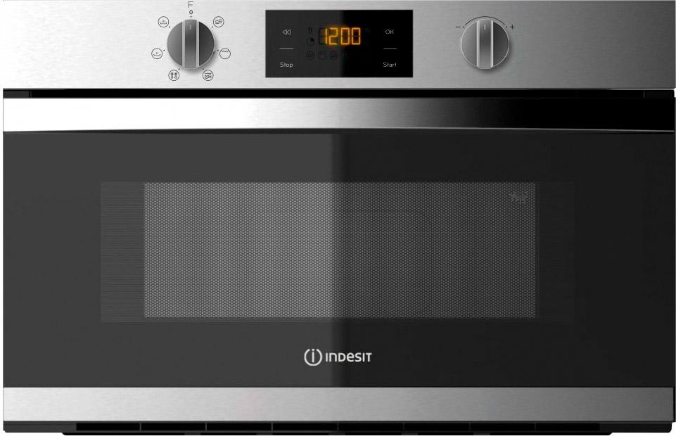 Indesit forno a microonde da incasso combinato con grill for Forno microonde combinato incasso