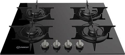 PR 642/I (BK) Serie Glass Piano Cottura 4 Fuochi a Gas 60 cm colore Nero