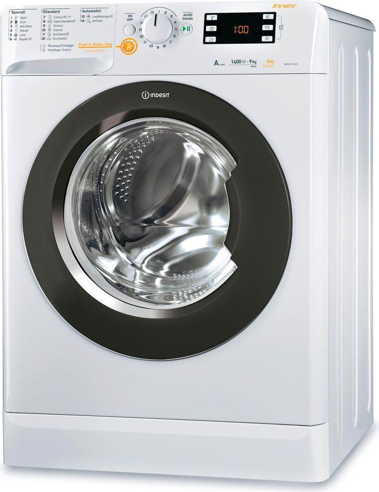 Lavasciuga indesit lavatrice asciugatrice xwde 961480x for Lavasciuga 45 cm