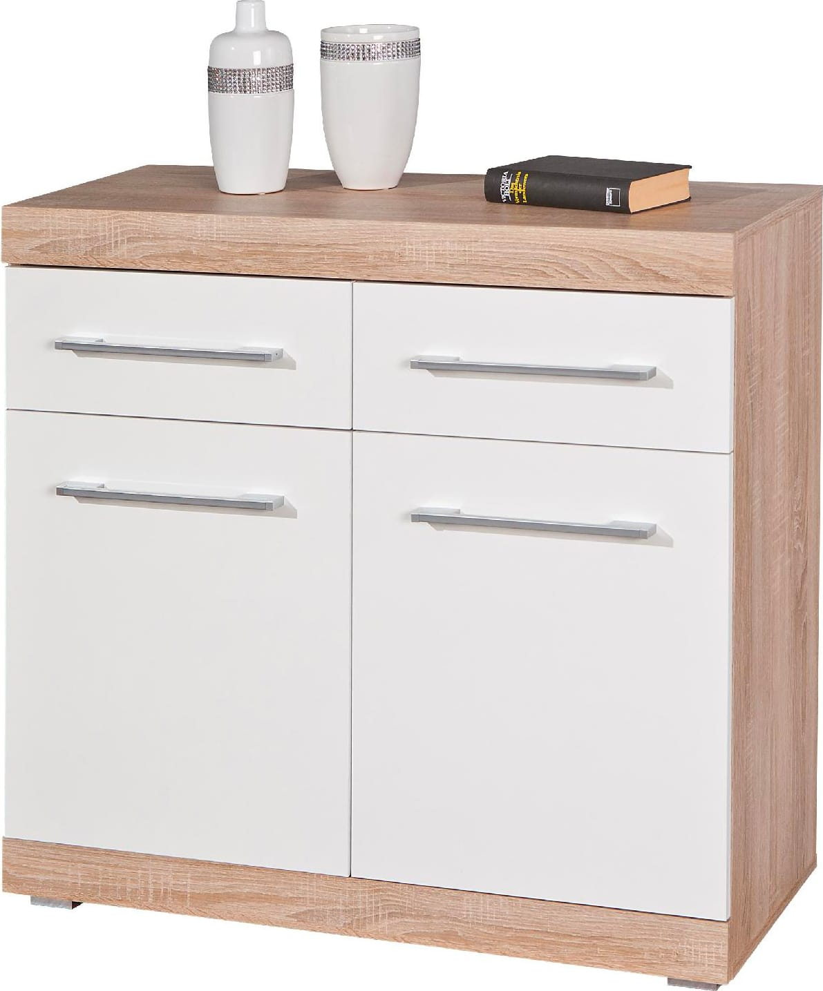 Inter Link 19601010 Mobile buffet Credenza moderna 2 Ante 95x40x87h cm Bianco