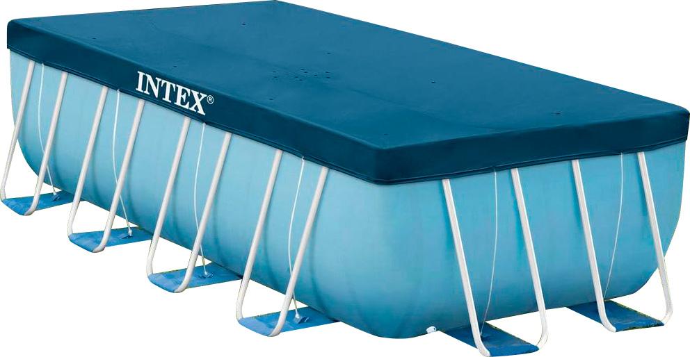 Piscina fuori terra intex telaio portante rettangolare 488x244x107 h 28318 piscine fuori terra - Piscina fuori terra quadrata ...