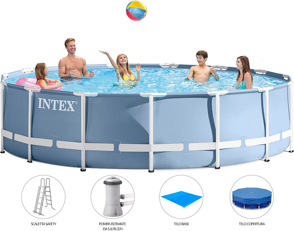 Piscina fuori terra intex telaio portante rotonda 549x122 for Piscina intex rotonda