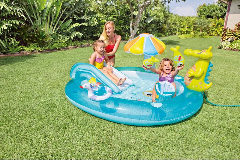 Piscina fuori terra gonfiabile intex ovale 203x173x89 h 57129 piscine fuori terra su - Piscine gonfiabili da giardino ...