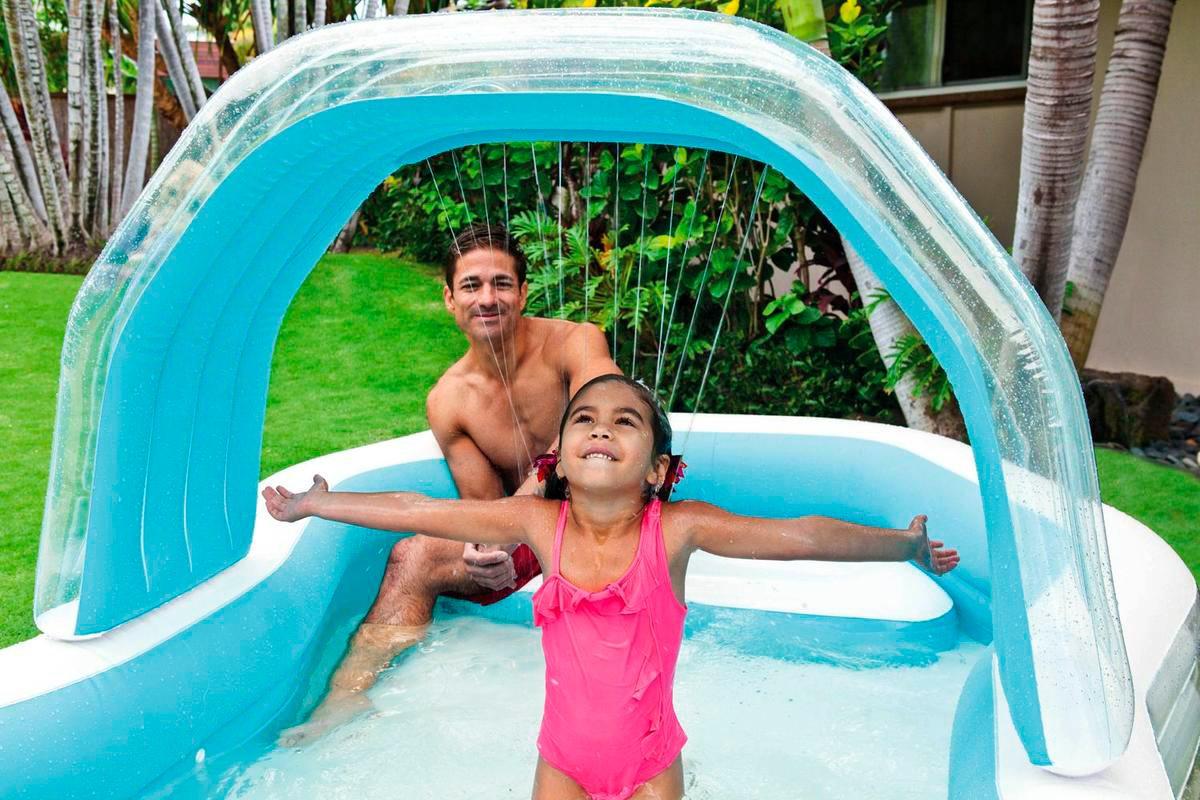 Piscina fuori terra gonfiabile intex rettangolare for Piscine fuori terra per bambini