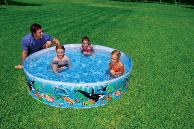 Piscina fuori terra intex autoportante rotonda 183x38 h for Piscine fuori terra per bambini