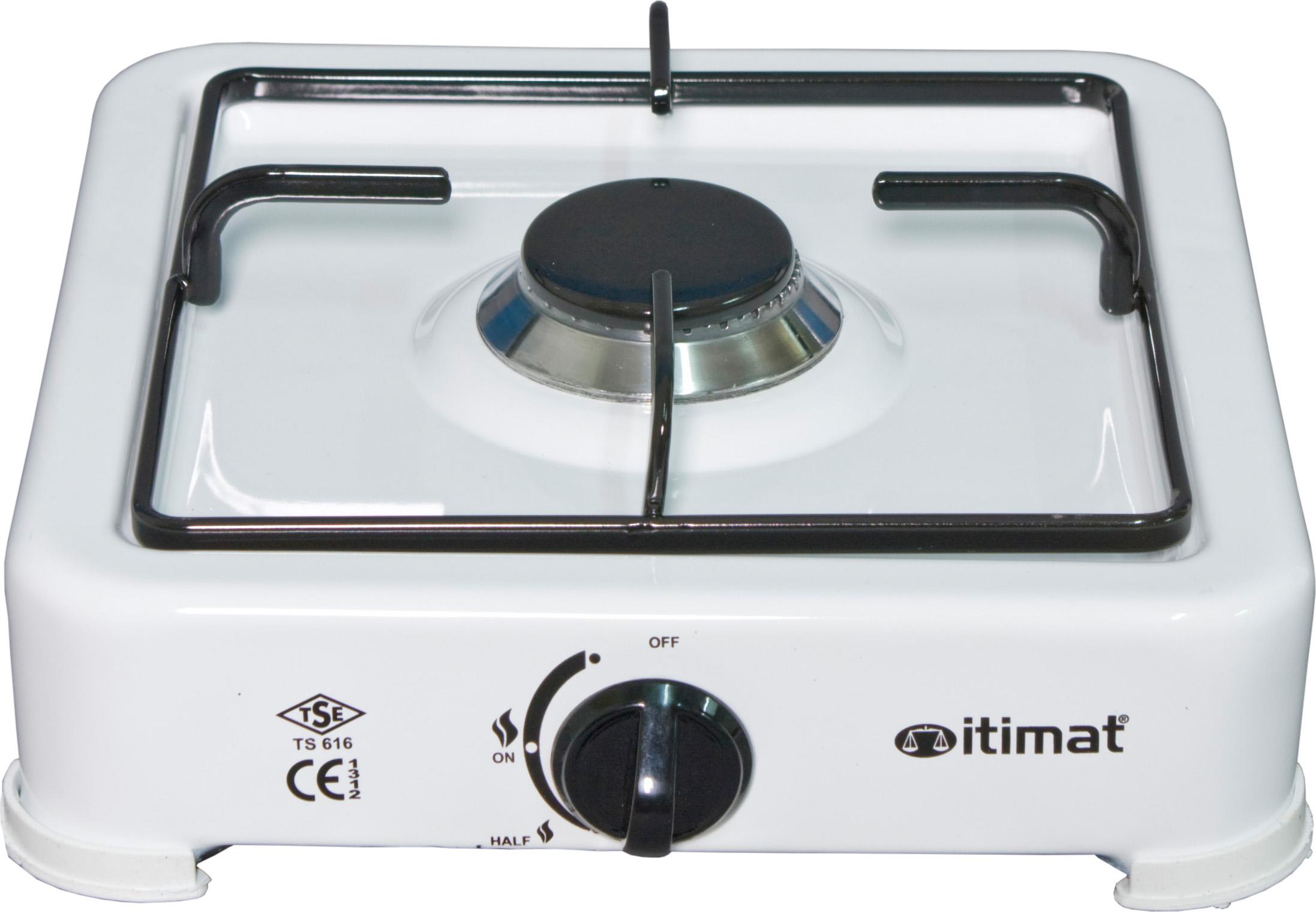 Itimat Fornello a Gas 1 Fuoco Potenza 1.5 Kw colore Bianco Senza Coperchio