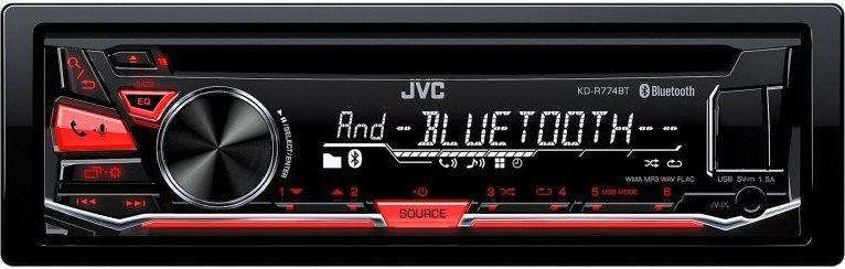 Jvc Autoradio Sintolettore CD Mp3 Radio Aux USB Bluetooth RCA KD-R774BTE