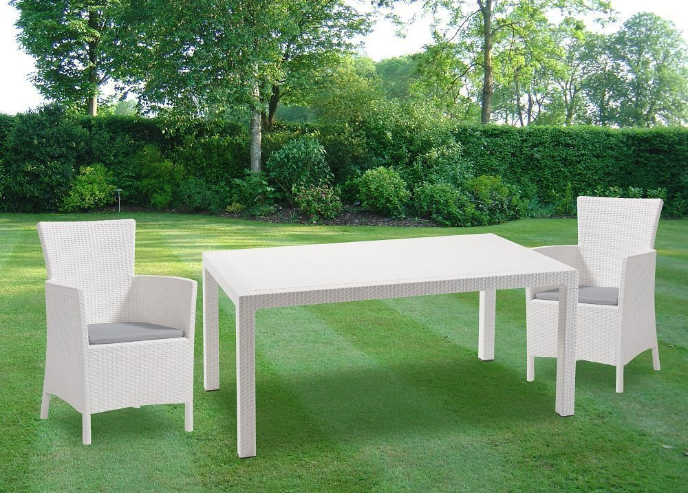 Tavolo Da Giardino Bianco.Tavolo Da Giardino In Resina Keter Melody 160 Arredo Giardino E
