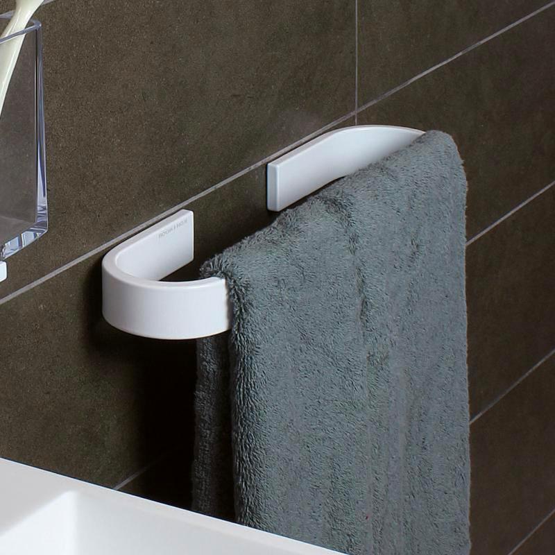 Accessori Bagno Koh I Noor Prezzi.Koh I Noor Porta Asciugamani Bagno Da Parete Lunghezza 32 Cm In Alluminio Colore Bianco 6007v Serie Materia