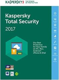 Kaspersky Software Antivirus Total Security 2017 1 utente 1 anno KL1919TBAFS-7