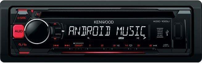 Kenwood Autoradio Sintolettore CDMp3FM 200 Watt RCA USB AUX - KDC-100UR