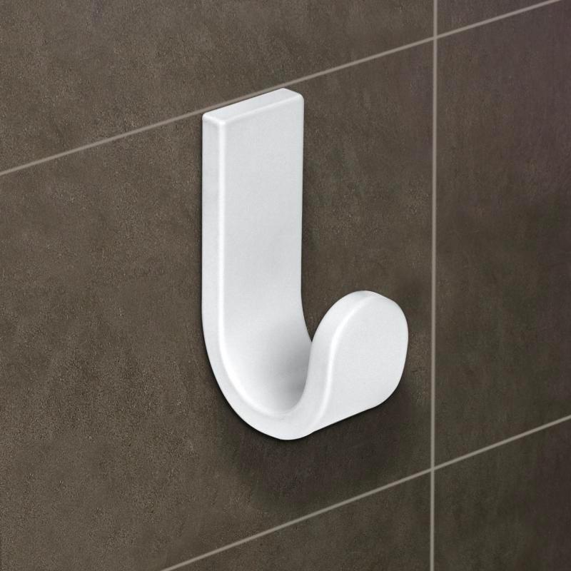 Appendi Accappatoio da Parete Moderno per Bagno colore Bianco - 6000V Serie  Materia