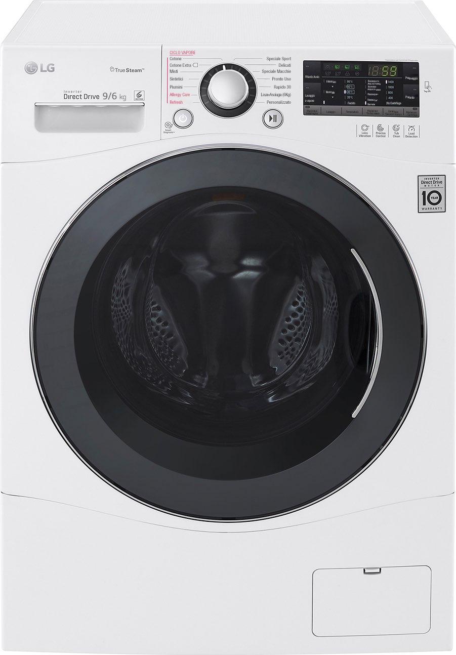 Lg lavasciuga lavatrice asciugatrice capacit di carico 9 - Profondita lavatrice ...