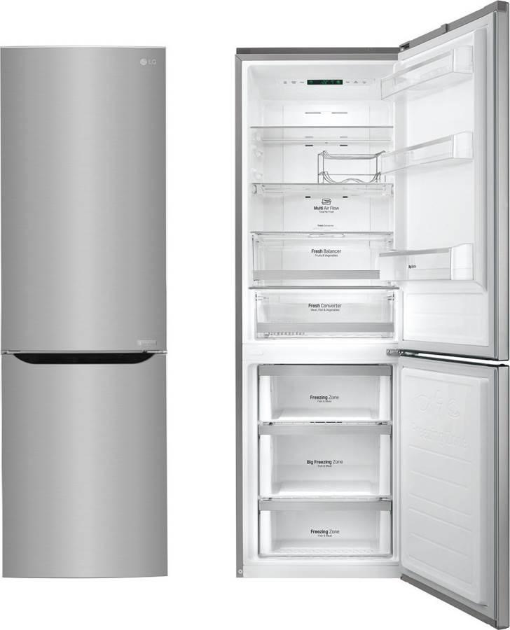 Frigorifero lg frigo combinato no frost gbb59pzgfs in for Frigoriferi profondita
