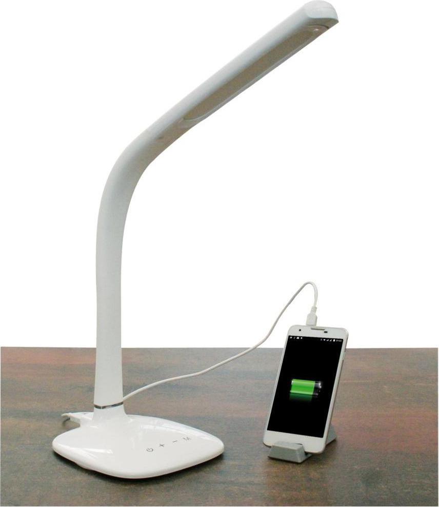 Mediacom lampada da tavolo scrivania 54 led porta usb per for Lampada led da scrivania