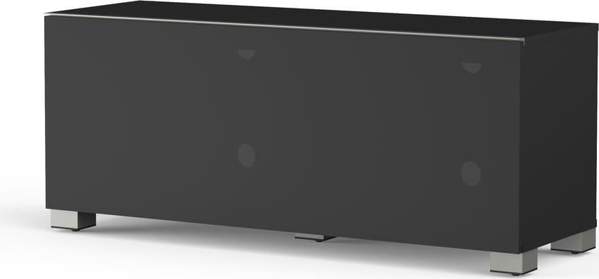 Porta Tv Meliconi.Mobile Tv Mobiletto Per Televisore E Impianti Audio 120x40 Cm Anta Anteriore In Tessuto Colore Nero 12040f Mytv Stand