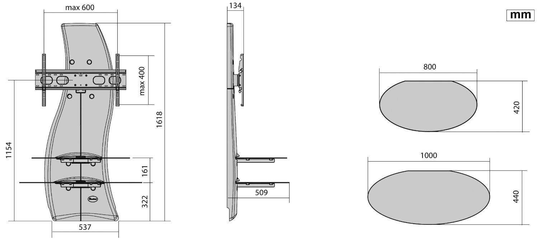 Meliconi Ghost Design 2000 Supporto Per Tv Lcd Al Plasma.Mobile Tv Meliconi Mobili Per Tv Ghost Design 2000 Prezzoforte