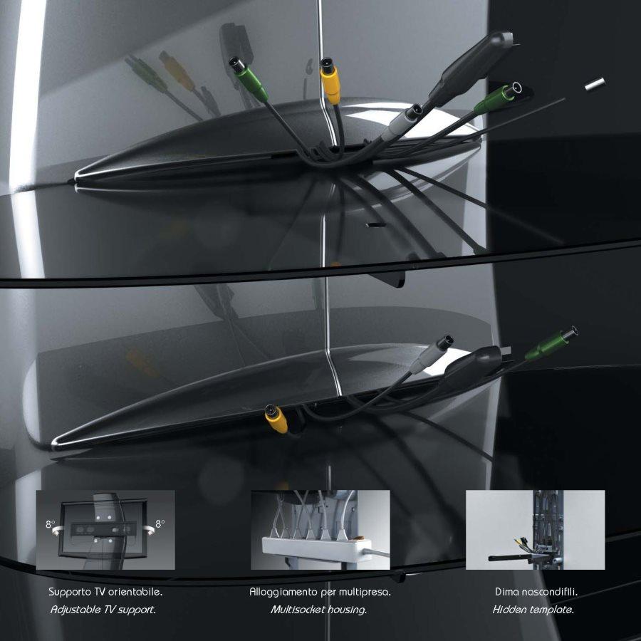 Meliconi Porta Tv Ghost Design 2000.Mobile Tv Meliconi Mobili Per Tv Ghost Design 2000 Prezzoforte
