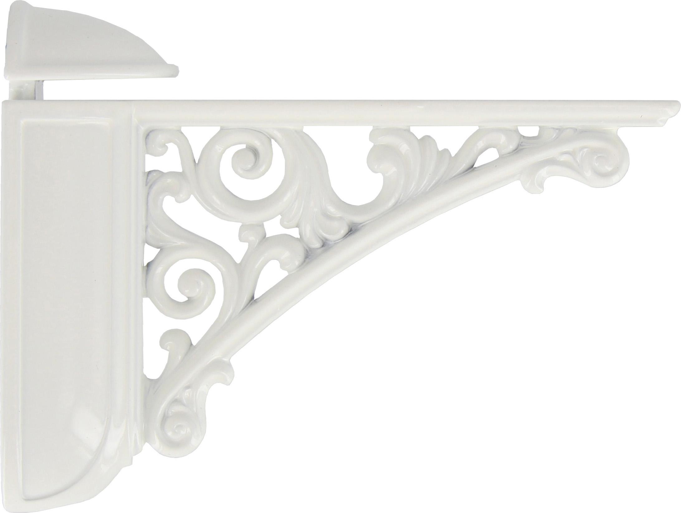 Zanche Per Mensole.Reggimensola Staffe Per Mensole In Zama 125x77 Cm Colore Bianco Lucido 42430
