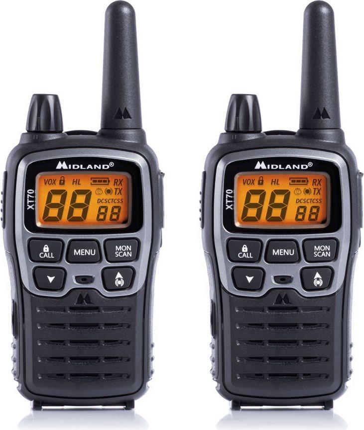 Midland Ricetrasmittenti Walkie Talkie 16 Canali+69 LPD 12 Km set 2 Pezzi XT70