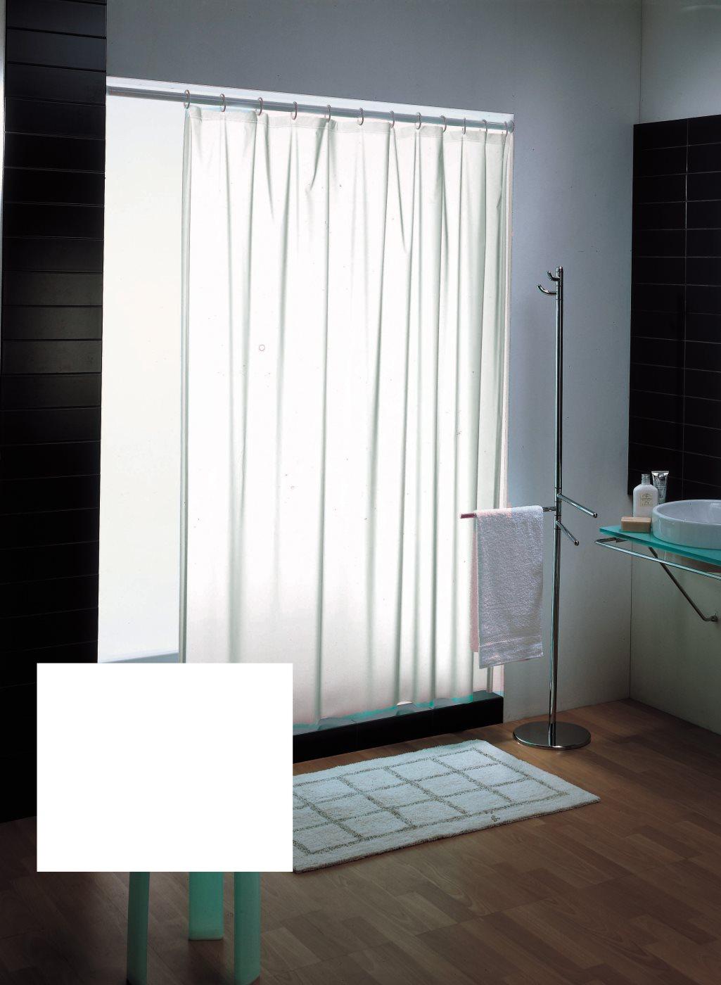 Nbrand tenda da doccia vasca da bagno cm 120x200 con anelli colore bianco 1120 b 125541 - Tenda per vasca da bagno ...