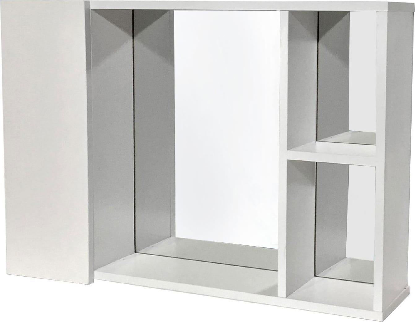 Specchio Bagno Con Ante.Nbrand Mobile Specchio Bagno 1 Anta 60x13x41h Cm Colore Bianco Gin1