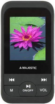 NEW MAJESTIC Lettore MP4 MP3 8 GB MicroSD USB 2.0 Radio FM - SDA-8071 BK