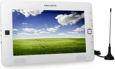 "NEW MAJESTIC TV Portatile LCD 9"" Digitale USB SD Time Shift TVD-934N WHGI ITA"