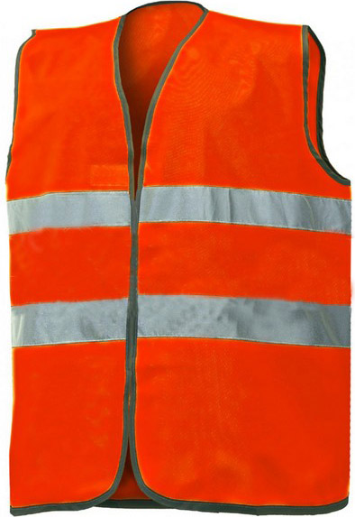 NO BRAND Gilet Alta visibilità in Poliestere Taglia Unica Arancio fluo 01210N