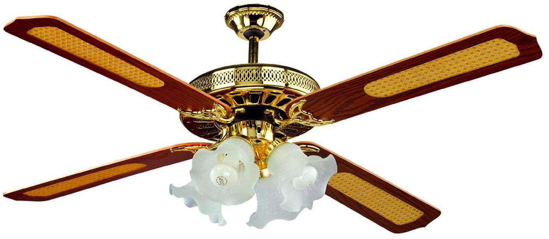 Nbrand ventilatore da soffitto con luce e telecomando 4 for Lampadario a pale brico