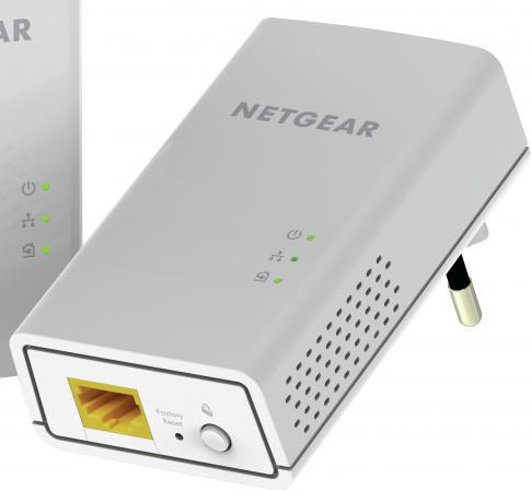 Netgear Adattatore di Rete Powerline LAN 1000 Mbits HomePlug AV2 PL1000-100PES
