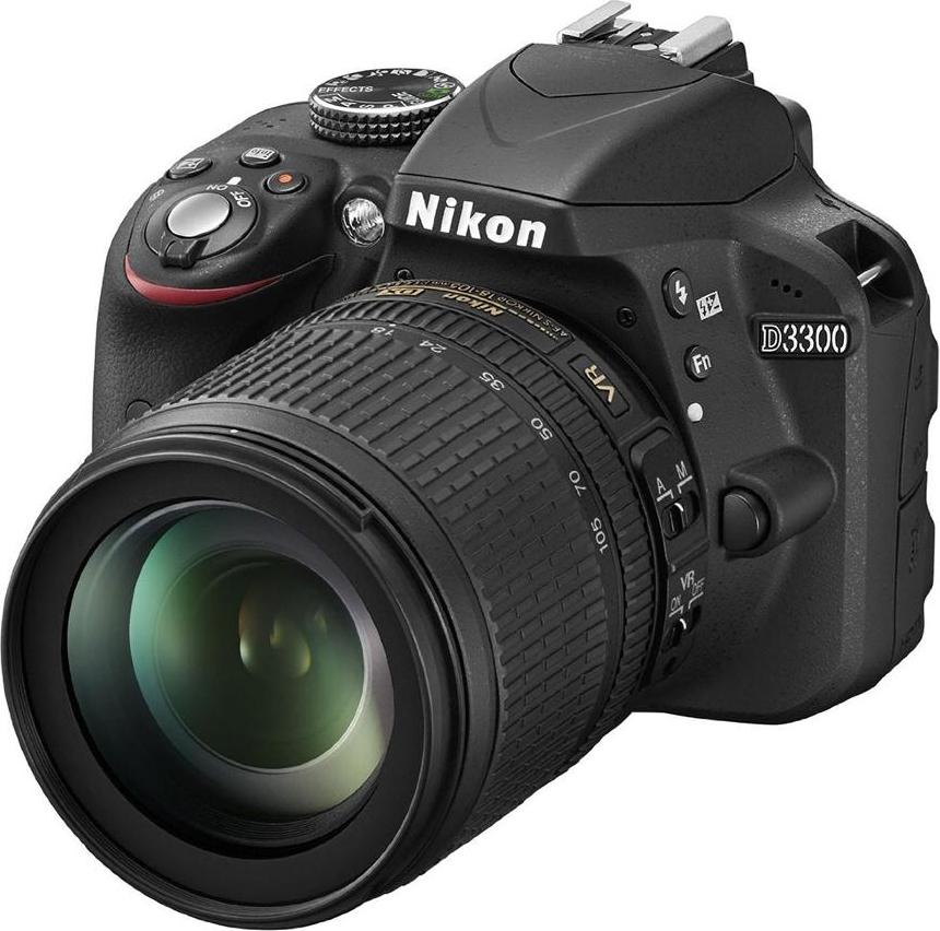 Nikon Fotocamera Reflex Digitale 3 Filmati Full HD WiFi Ready D3300 + 18-105VR