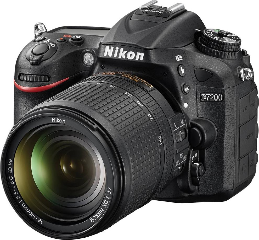 Nikon Fotocamera digitale reflex Wifi Obiettivo 18-140mm SD 8GB ND7214 D7200