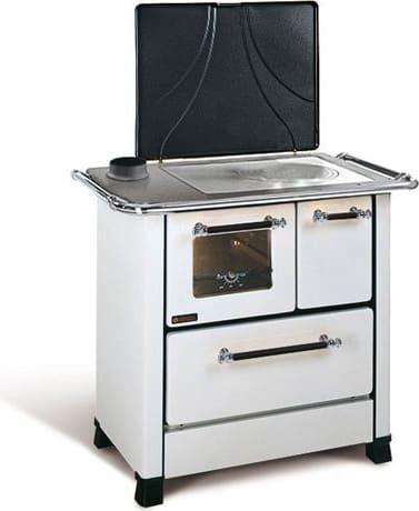 Cucina A Legna Nordica Romantica.Cucina A Legna Con Forno 1 Focolare In Ghisa Potenza 5 Kw Volume 143 M3 Dimensione 88x57 Cm Colore Bianco Romantica 3 5 Sx