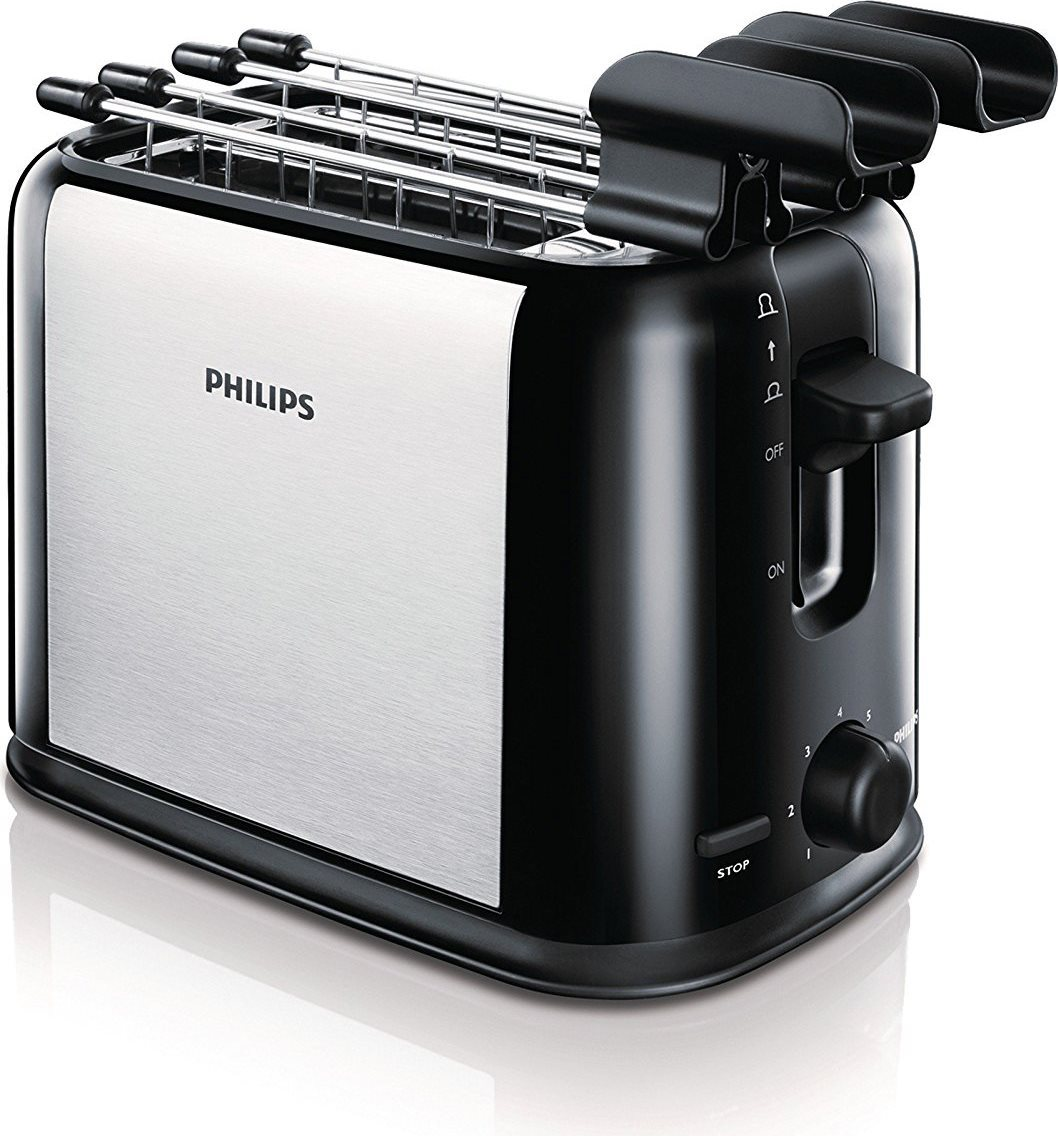 PHILIPS Tostapane per Toast 2 Fette 950W 7 Livelli cottura - HD258920