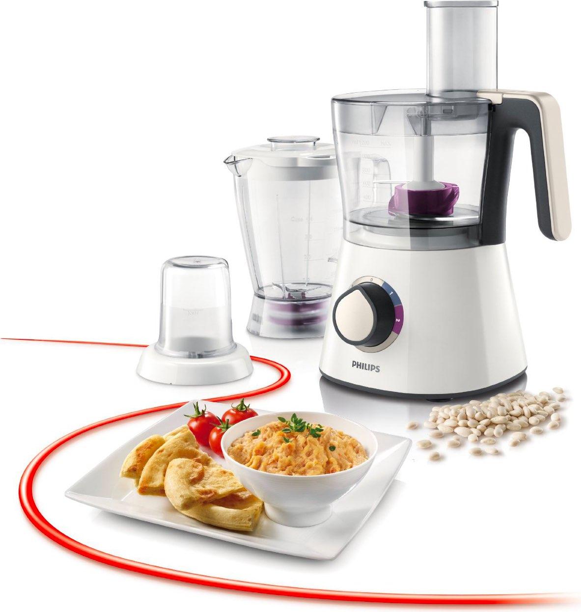 Philips robot da cucina capacit 2 litri 2 velocit tasto pulse potenza 750 watt colore bianco - Robot da cucina philips essence ...