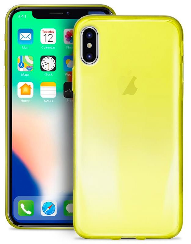 custodia apple iphone x giallo