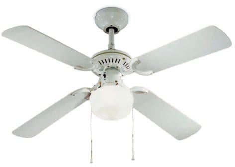 Perenz ventilatore da soffitto con luce 4 pale lampadario ø 105 cm