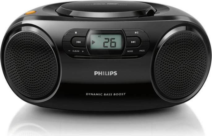 PHILIPS Radio Stereo Portatile Boombox Ghetto Blaster CD Mp3 USB AZ32012