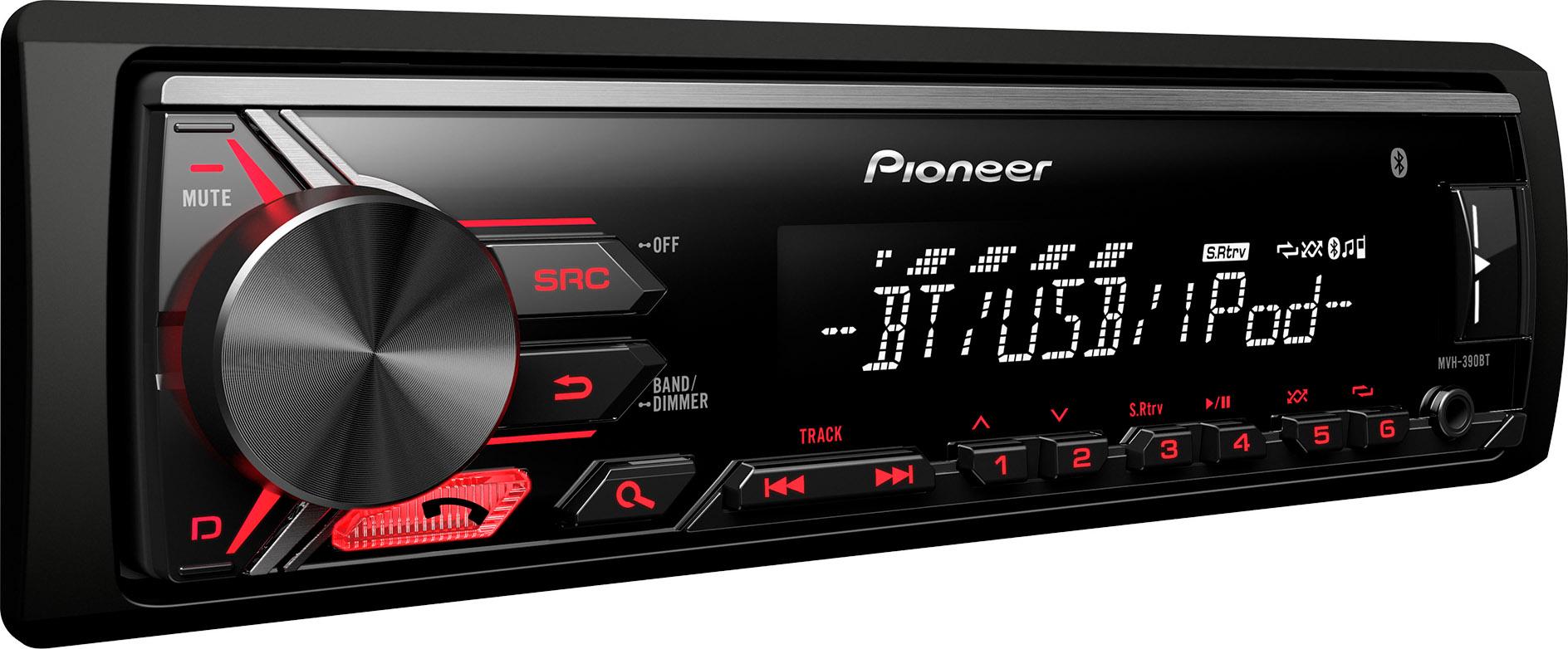 autoradio bluetooth pioneer stereo auto mvh 390bt. Black Bedroom Furniture Sets. Home Design Ideas