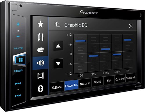 autoradio 2 din pioneer bluetooth con schermo mvh av290bt. Black Bedroom Furniture Sets. Home Design Ideas