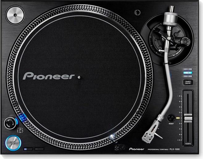 Pioneer Giradischi 33 45 giri trazione diretta 9W Rumorosità 70 dB Nero PLX-1000