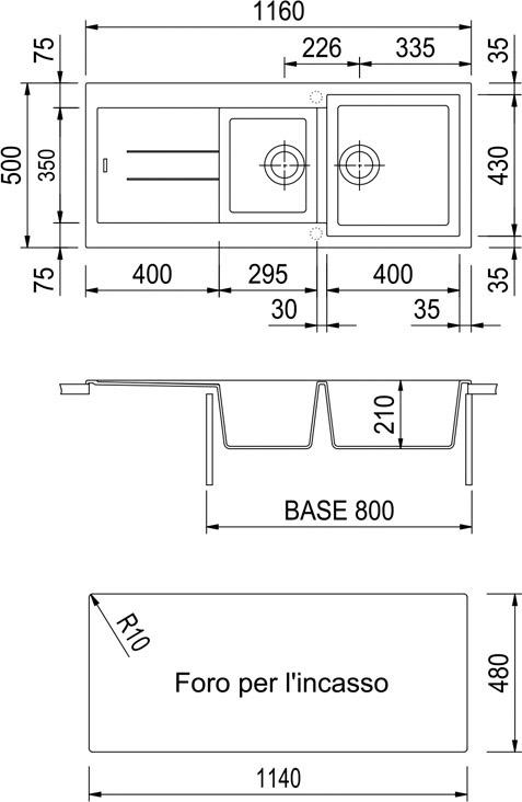 Lavello cucina plados lavello fragranite avena am11620ug94 121935 - Foro areazione cucina ...
