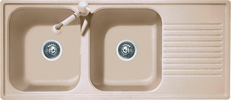Lavello Cucina A Incasso.Plados Lavello Cucina 2 Vasche Incasso Con Gocciolatoio Larghezza