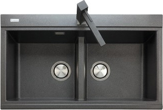 Lavello Cucina Plados Lavello Fragranite Nero LX8620UG70 ...