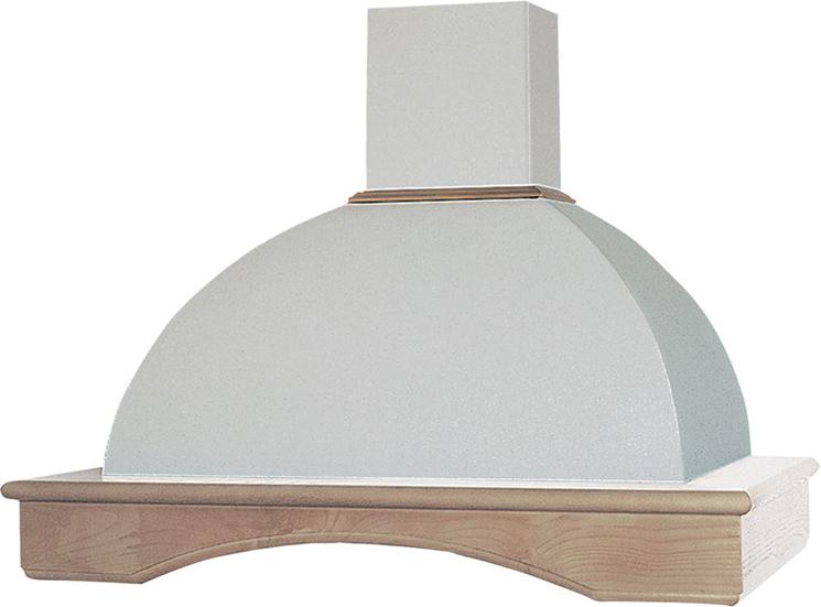 Cappa Cucina Filtrante a Parete Larghezza 60 cm colore Bianco Antico UQ87  Trave Legno finitura Pioppo - RB60