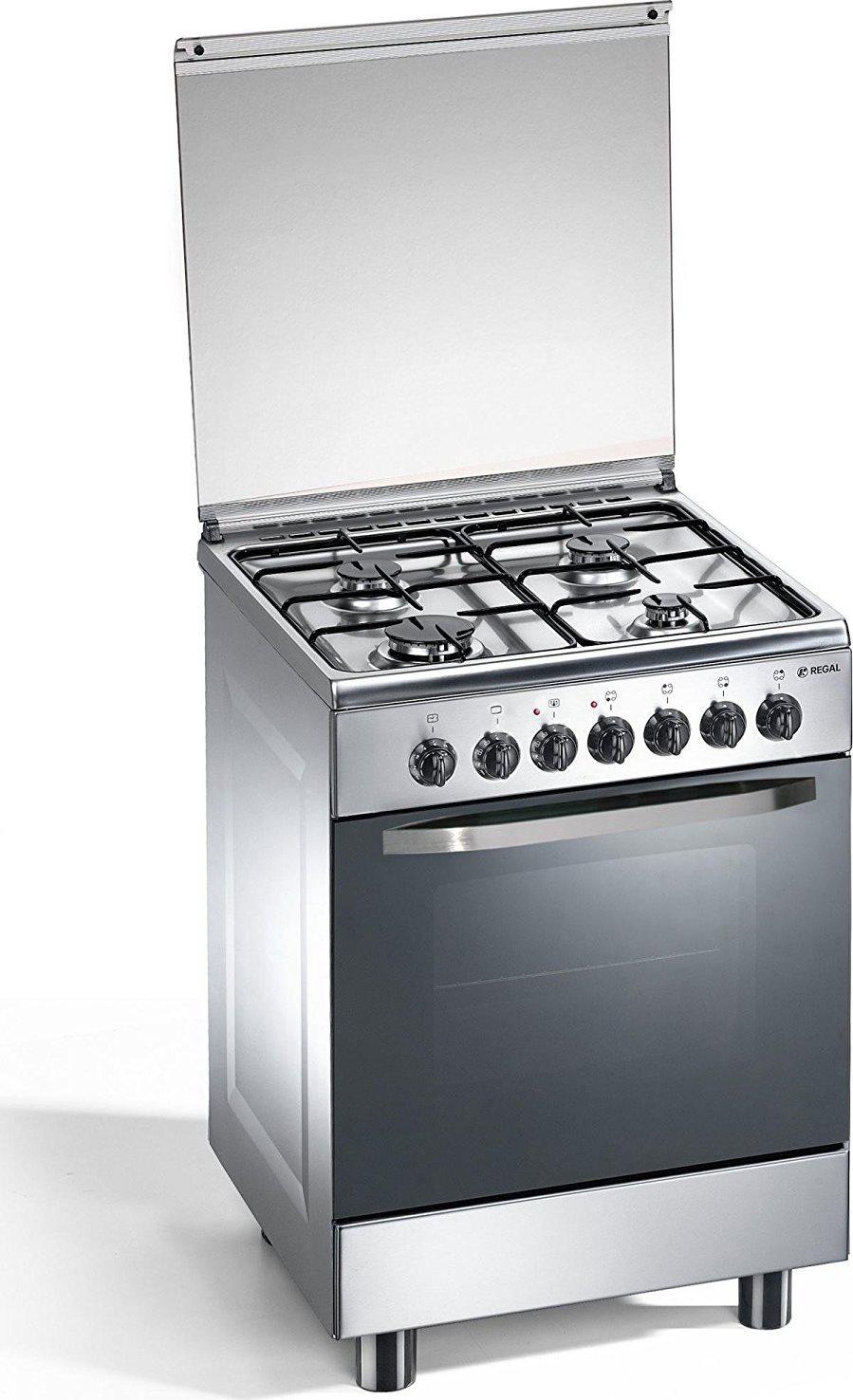 Cucina a gas regal by tecnogas rc663xsn forno elettrico - Cucina con forno a gas ...