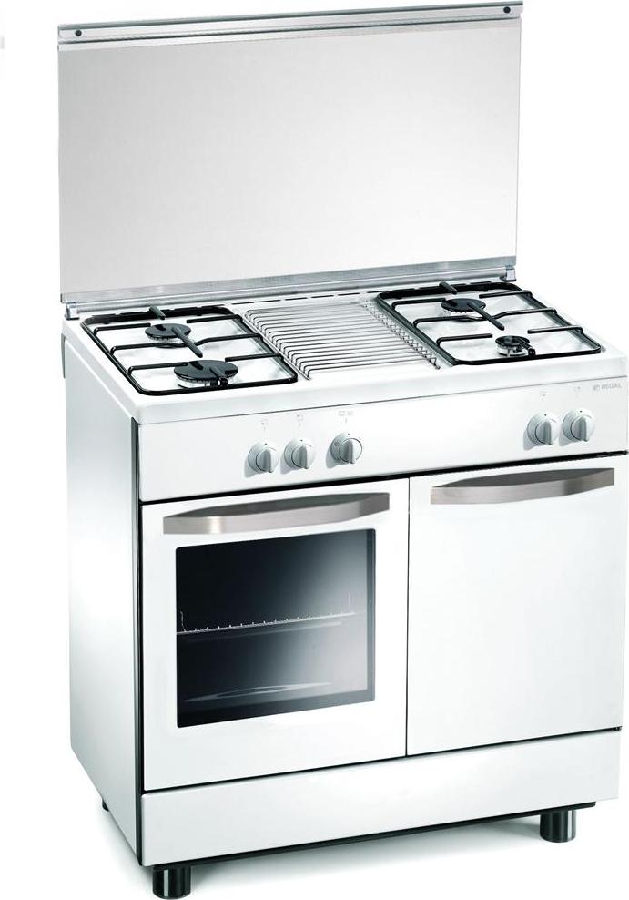 Regal by tecnogas cucina a gas 4 fuochi forno a gas larghezza x profondit 80x50 cm colore - Cucina a gas tecnogas ...
