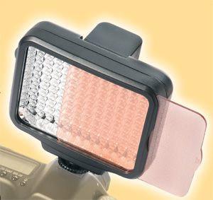 Reporter Flash per Macchina fotografica 120 LED 6000°K + Filtro correzione 60130